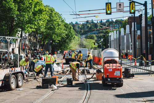 Providence Park MAX Track Work