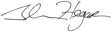 Image of Texas Comptroller Glenn Hegar's signature