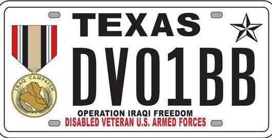 Iraqi Freedom Plate