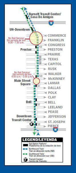 On-line map of METRO Service for Marathon