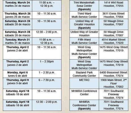 METROLift Meeting Schedule