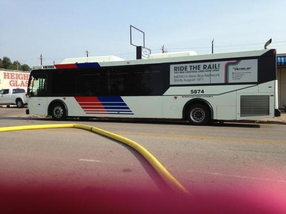 fire metro bus