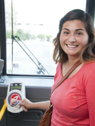 Student On METRO Bus