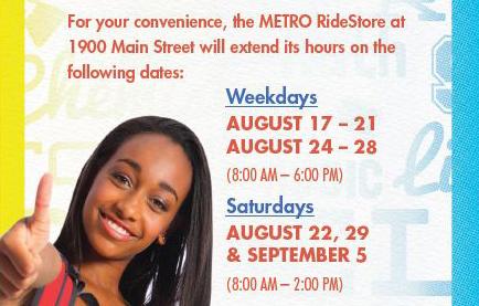 RideStore Hours