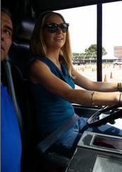 kat behind the wheel