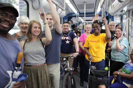 riders on rail