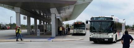 Buses at Burnett Transit Center