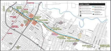 Downtown rail closure map