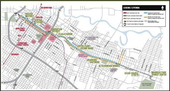 Green/Purple Line Map
