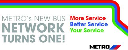 New Bus Network 1 Yr Anniversary