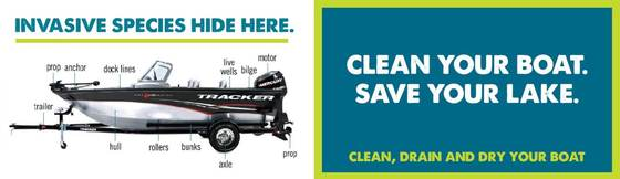 Invasives Hide Here. Clean Your Boat. Save Your Lake.