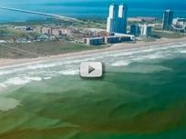 aerial hotel and beach