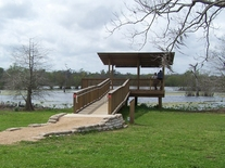 viewing platform over lake