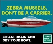Clean, drain and dry your boat poster