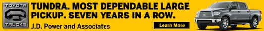yellow/black ad Toyota Tundra
