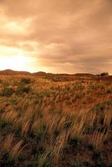 prairie, rocky hills, sunset sky, Caprock Canyons