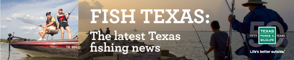 Fish Texas header with 50th logo