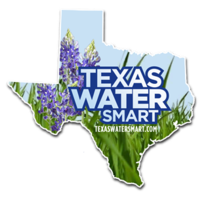 Water Smart logo - Texas shape