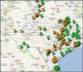Texas map showing public hunting lands