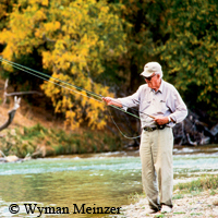 John Graves fishing on Llano River