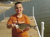 Keatyn Eitelman with his catch