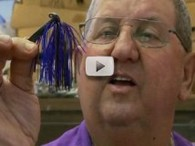 Lonnie Stanley making fishing lures