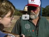 Shooting instructor Charlie Wilson with student