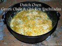 enchiladas in a Dutch oven
