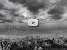 desert sky black and white