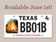 license plate, camping scene