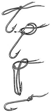 drawing of palomar fishing knot