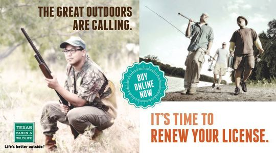 Get in gear get your hunting and fishing license for Renew fishing license