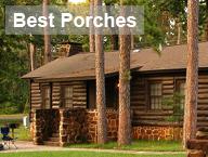 Caddo cabin porches