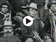 Buffalo Soldiers with trumpets