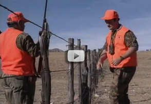 hunters crossing a fence, safety video