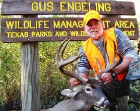 deer and hunter at WMA