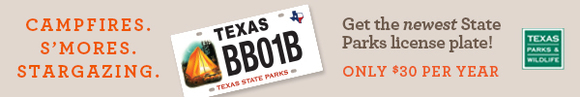 Camping license plate that benefits state parks