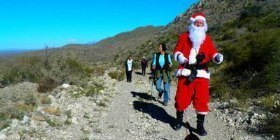Santa hiking party