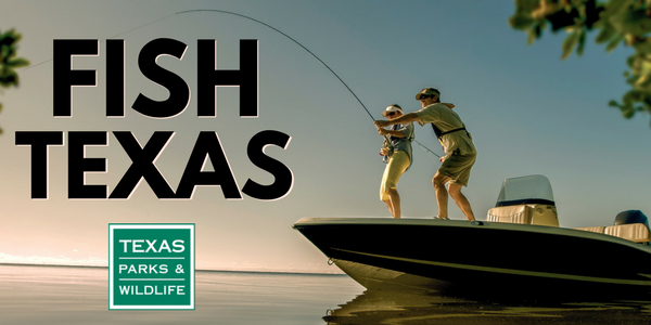 header for Fish Texas of man and child in boat