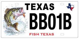 Bass license plate