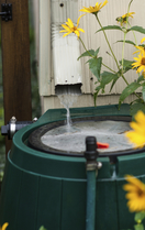rain barrel gutter