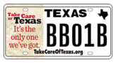 TCoT license plate sample