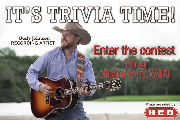 Trivia Contest with Cody Johnson