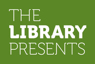 The Library Presents pink logo