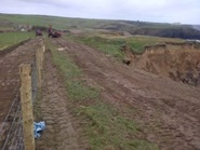South West Coast Path - Resurfacing and a new fence is complete at Penrose