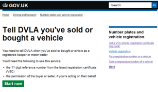 Tell DVLA you've sold or bought a vehicle