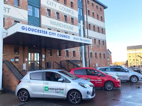 Glos City the docks & cars