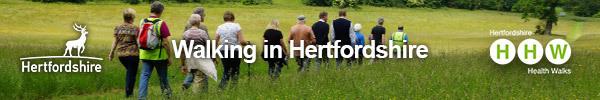 Walking in Hertfordshire banner