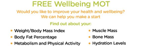 Wellbeing MOT banner
