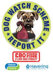 Dog Watch sticker